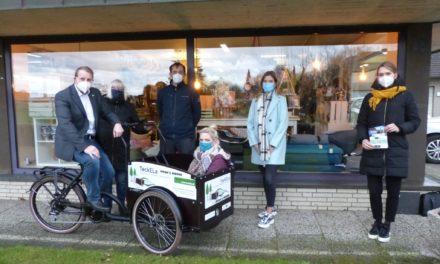 Drei neue E-Lastenräder für den kostenfreien Verleih in den Ortsteilen Brochterbeck, Ledde und Leeden:
